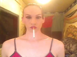 slick sexy smoking bitch