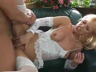 Grown-up Hot Progenitrix in Lingerie Gets Anal