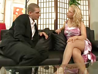 Hot German Mom Shagging Chiefly Put emphasize Love-seat