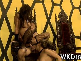 Babe seduces several fellow