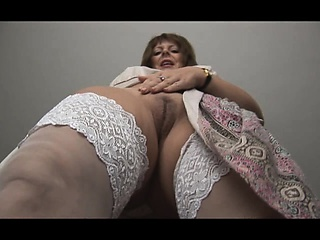 Sweet curvy mature pamper strips and teases