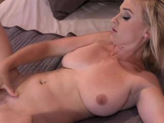 Kermis adult all over big boobs masturbates yon bed