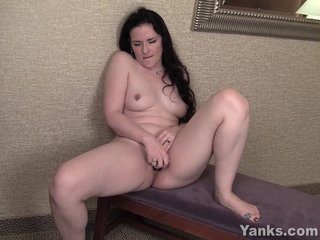 MILF Caroline Vibrating Her Perforated Pussy