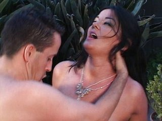 MILF sombre haired pussy pool fuck