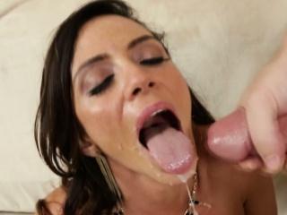 Ariella Ferrera loves young dudes jizz all over her complexion