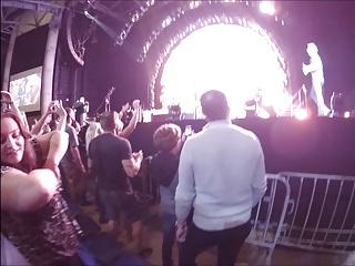 Public cock sucking within reach a concert